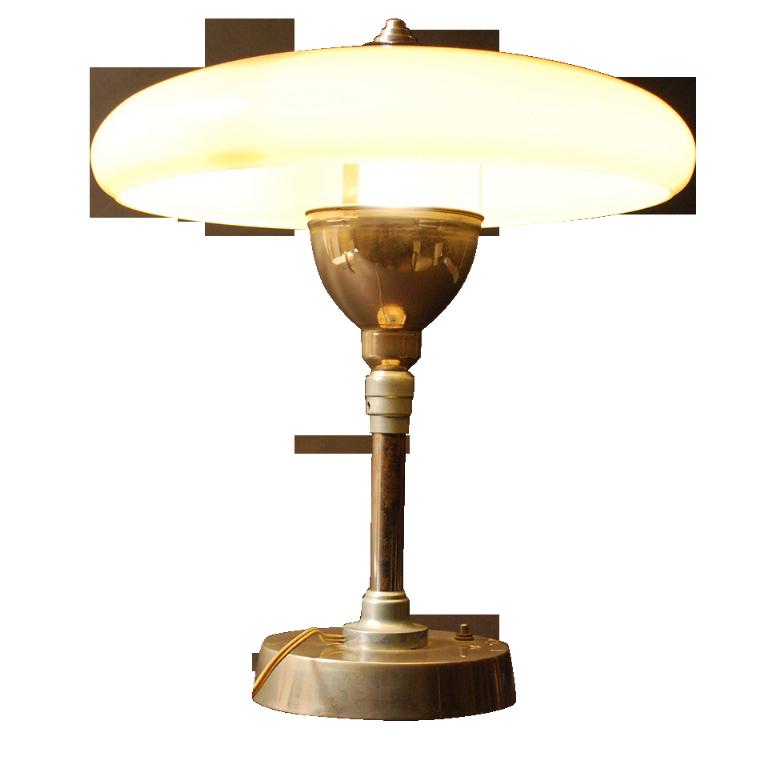 Lampe à Poser Art Déco En Métal Et, Art Deco Lampe