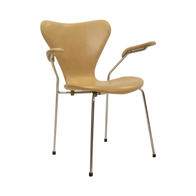 Incredible 3207 Leather Armchair By Arne Jacobsen For Fritz Hansen Pabps2019 Chair Design Images Pabps2019Com